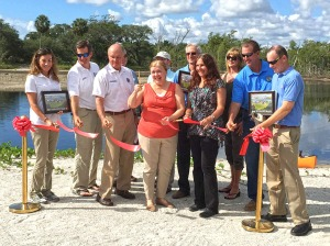 Fullerton Island ribbon-cutting