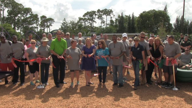 Palm Beach County, Office Depot Foundation team up to beautify neighborhood park