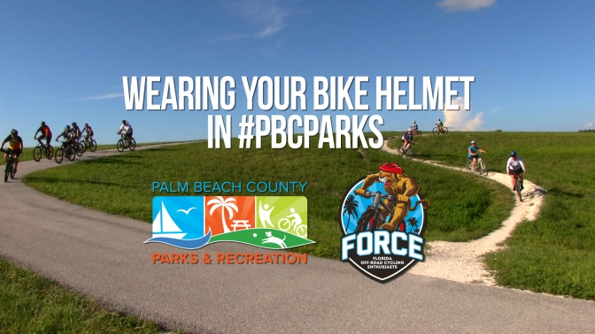 #pbcParks and F.O.R.C.E Remind You to Wear Your Helmet!