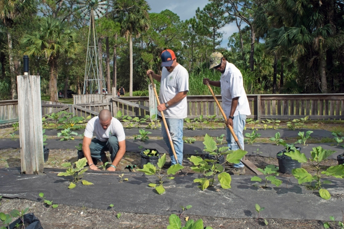 Staff plant Farmstead Garden at Riverbend Park