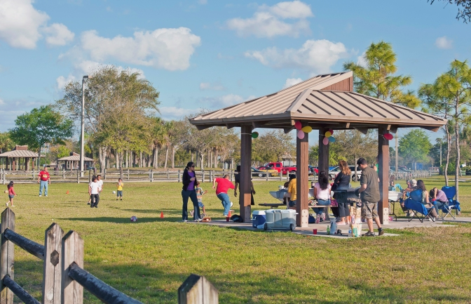 Have a family picnic in a #pbcPark!